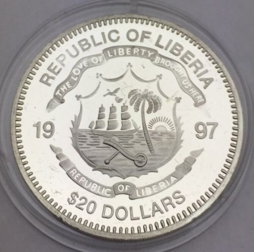 Liberia, 20 dollars, Duke of Marlborough
