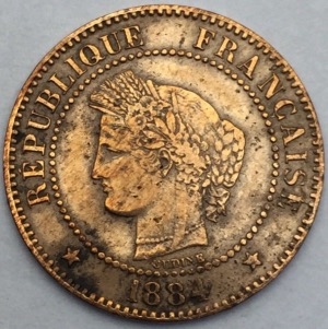 Ceres 2 centimes 1884 A