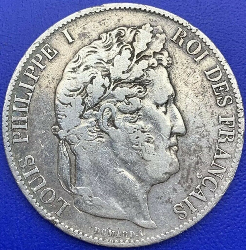 5 francs Louis Philippe I 1847 A