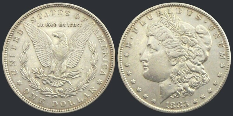 Etats-Unis, One Dollar Morgan, 1883, Philadelphie argent