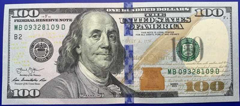 Etats-Unis, USA, New-York, Billet 100 dollars 2013