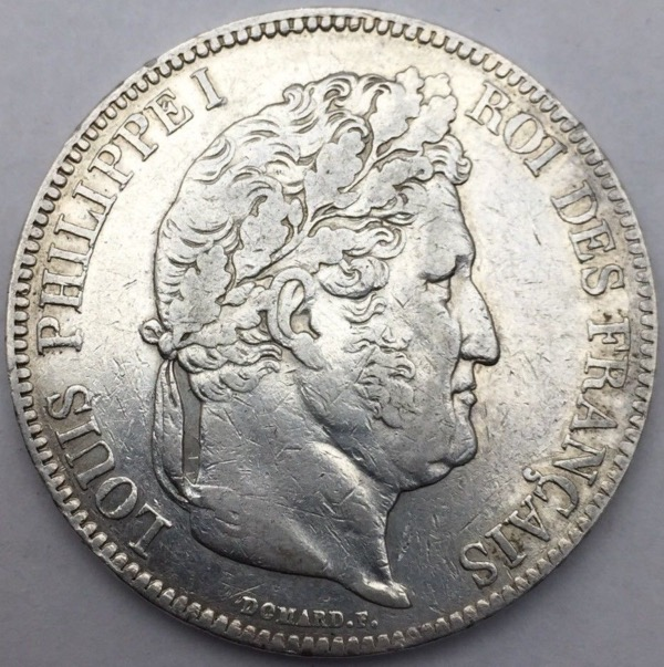 Louis Philippe I 5 francs 1833 A