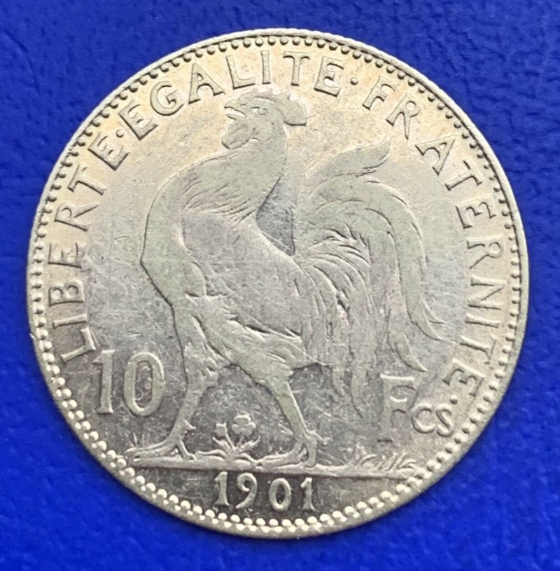 10 Francs or Coq Marianne 1901