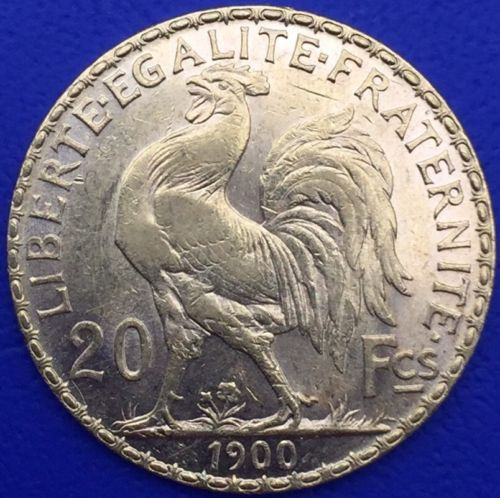 20 francs or Coq Marianne 1900