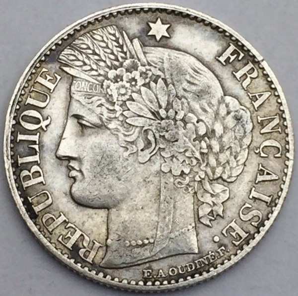 Ceres 50 centimes 1871 A