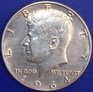 1/2 Dollar argent USA Kennedy 1964 Denver
