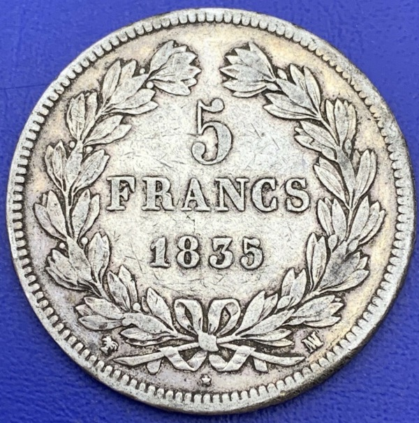 5 francs Louis Philippe 1835 MA