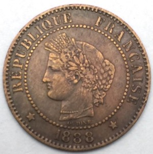 Ceres 2 centimes 1888 A