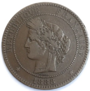 Ceres 10 centimes 1888 A
