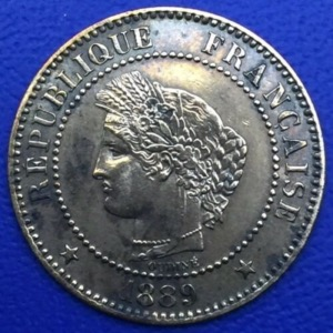Monnaie bronze, Ceres, 2 centimes 1899 A, Paris