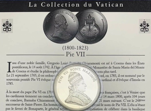 Médaille Pie VII, Collection du Vatican