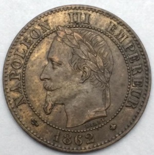 Napoleon III 2 centimes 1862 A
