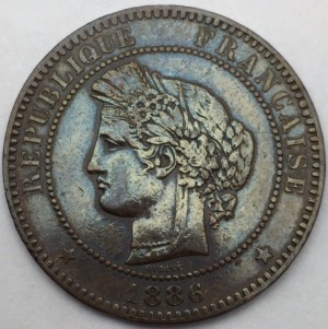 Ceres 10 centimes 1886 A