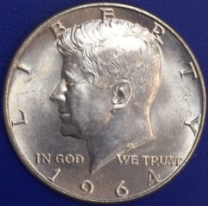 1964 Silver Half dollar Kennedy USA