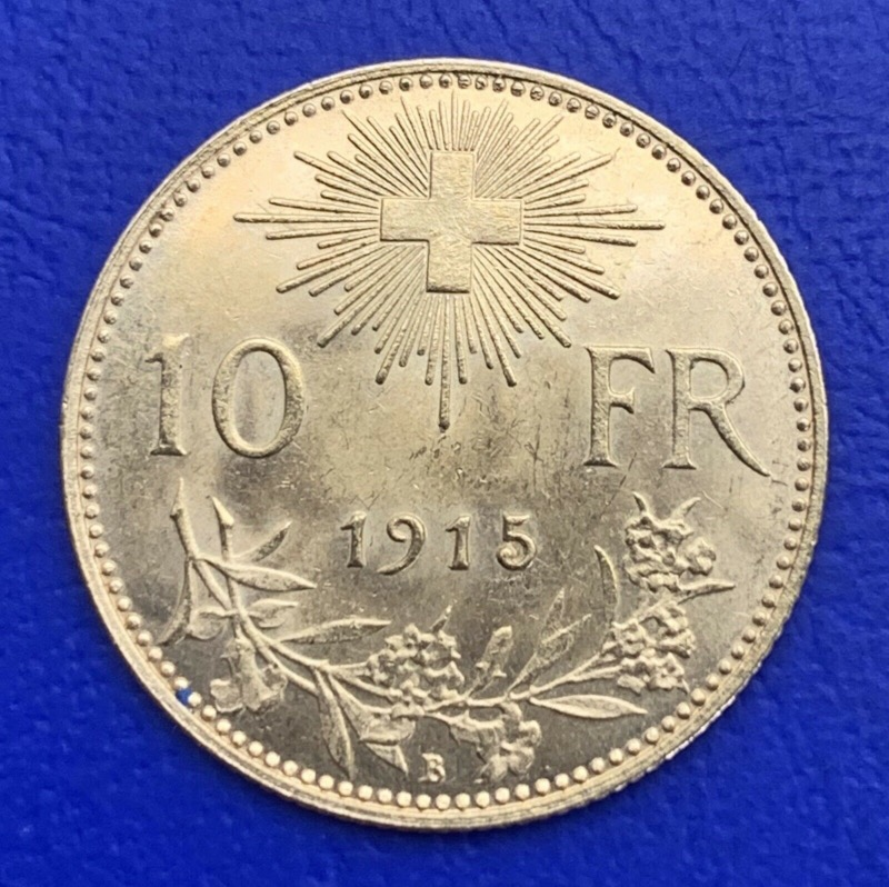 10 Francs Or Vreneli Suisse 1915