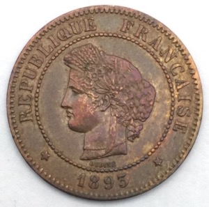 Ceres 5 centimes 1893 A