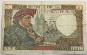 50 Francs Jacques Cœur 1940