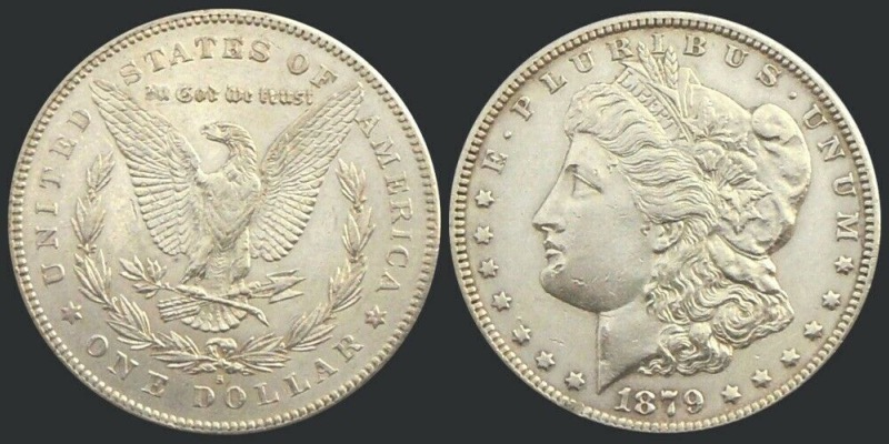 Etats-Unis, One Dollar Morgan, 1879, San Francisco argent