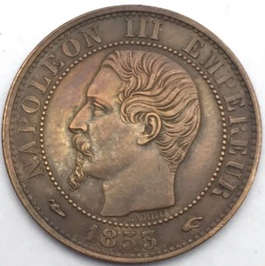 Napoleon III 5 centimes 1853 A