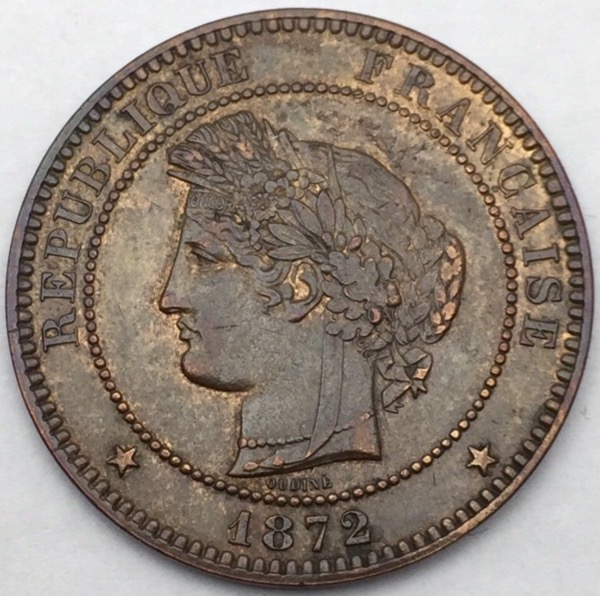 10 centimes Ceres 1872 A