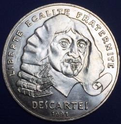 100 francs Descartes 1991