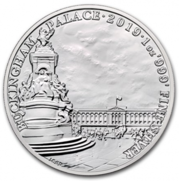 Buckingham palace 2019 1 oz argent pur