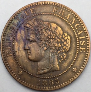 Ceres 10 centimes 1883 A bronze