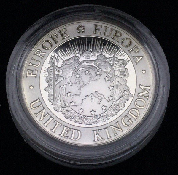 United Kingdom 25 Écu 1992 Piéfort PROOF
