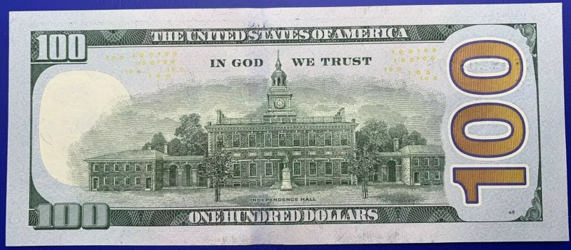 Etats-Unis, USA, Atlanta, Billet 100 dollars 2013