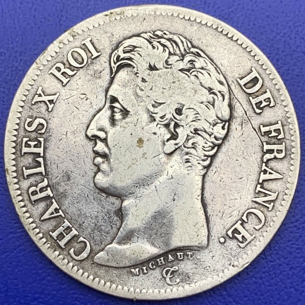 5 Francs CHARLES X 1825 W Argent