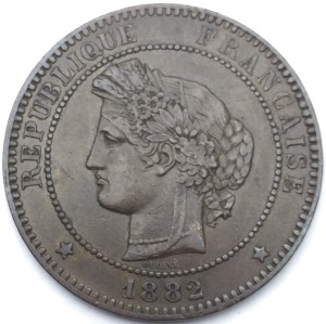 Ceres 10 centimes 1882 A