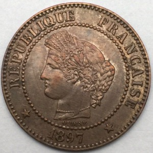 Ceres 2 centimes 1897 A