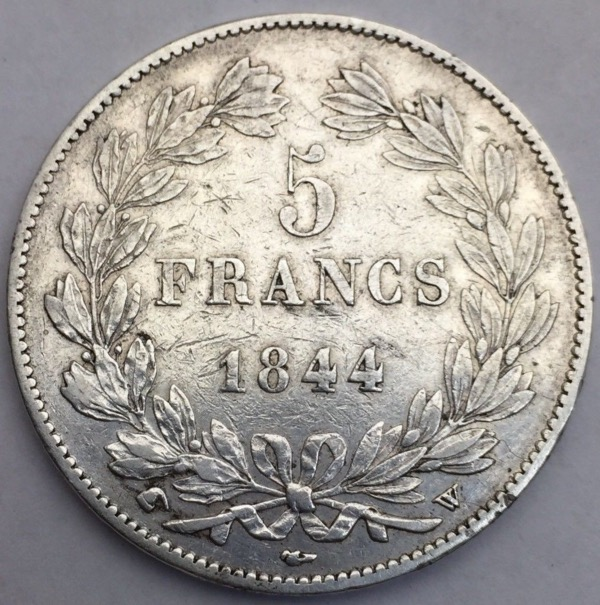 Louis Philippe I 5 francs 1844 W
