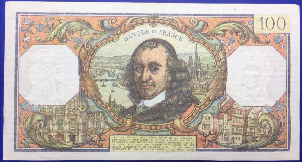 France, Billet, 100 francs Corneille 1977