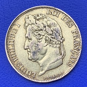 20 Francs or Louis Philippe Ier 1843 A