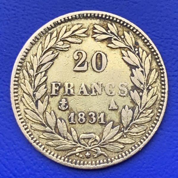 20 Francs or Louis Philippe Ier 1831 A