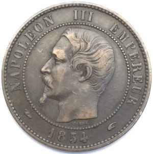 Napoleon III 10 centimes 1854 A