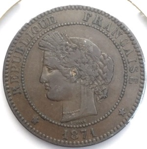 Ceres 10 centimes 1871 A bronze