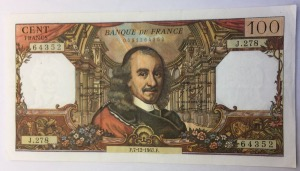 Billet 100 francs Corneille 8-12-1967
