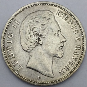 Ludwig II 5 Mark 1876 D