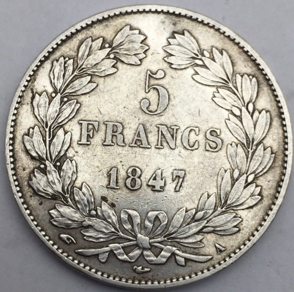 Louis Philippe I 5 francs 1847 A