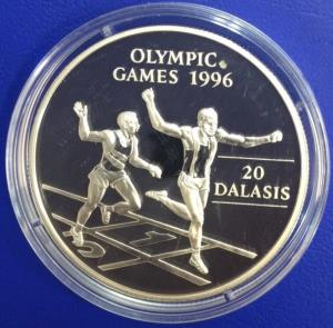 Gambia 20 Dalasis 1994 Jeux Olympiques argent