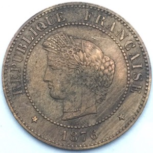 Ceres 5 centimes 1876 A