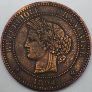 Ceres 10 centimes 1894 A