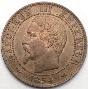 Napoleon III 5 centimes 1854 A