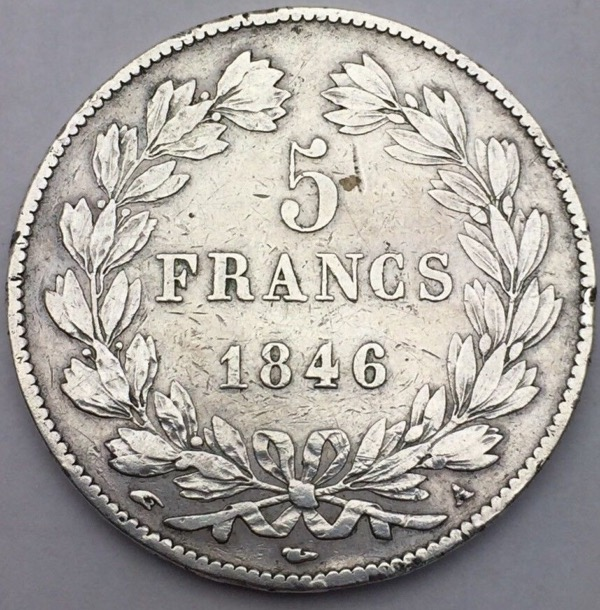 Louis Philippe I 5 francs 1846 A