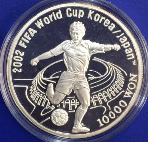 Korea/Japan 10000 won 2001 Coupe de Monde FIFA argent