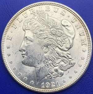 Etats-Unis, One Dollar Morgan, 1921, argent