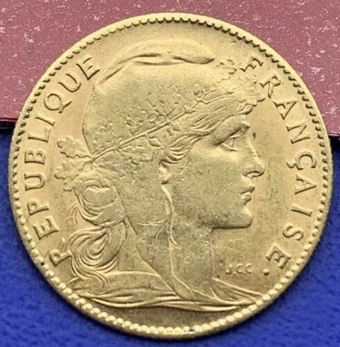 10 Francs Or Coq Marianne 1906