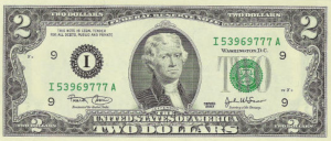 2 dollars 2013 Etats-Unis billet Neuf collection